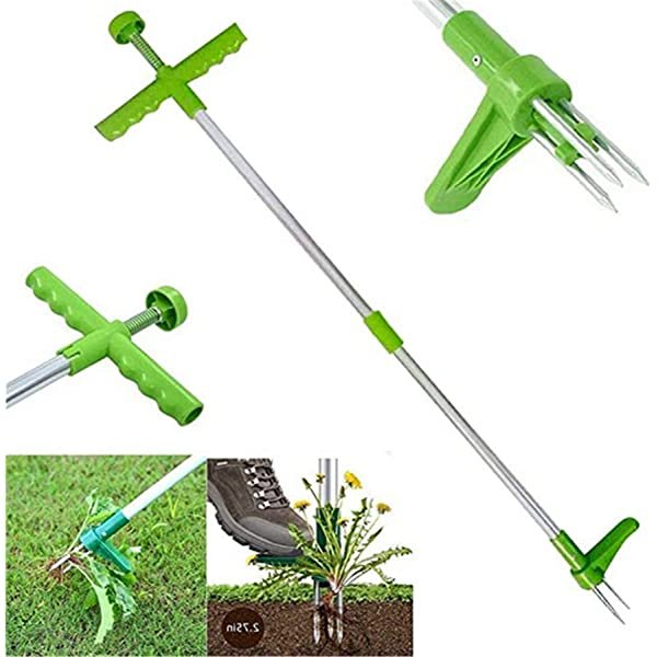 Weed Remover Tool Push Twist and Pull Weeder Dandelion Weed Remover Tool Claw Weed Remover Tool for Garden