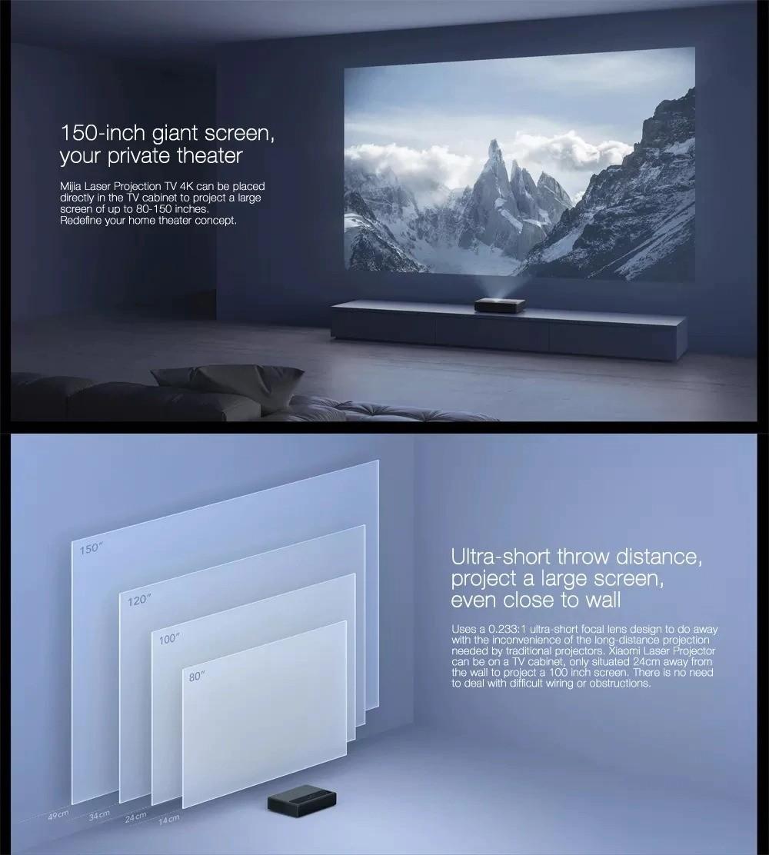 "Xiaomi Mi Laser Projector 150"" Global Version"