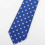 White Dots Silk Tie、Real Silk Life