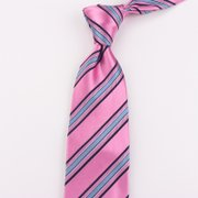 Chic Strip Silk Tie、Real Silk Life