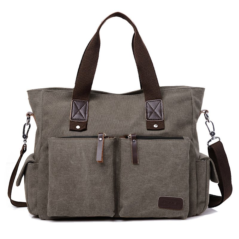 Used large travelling handbags made of casual canvas / [viawink] /