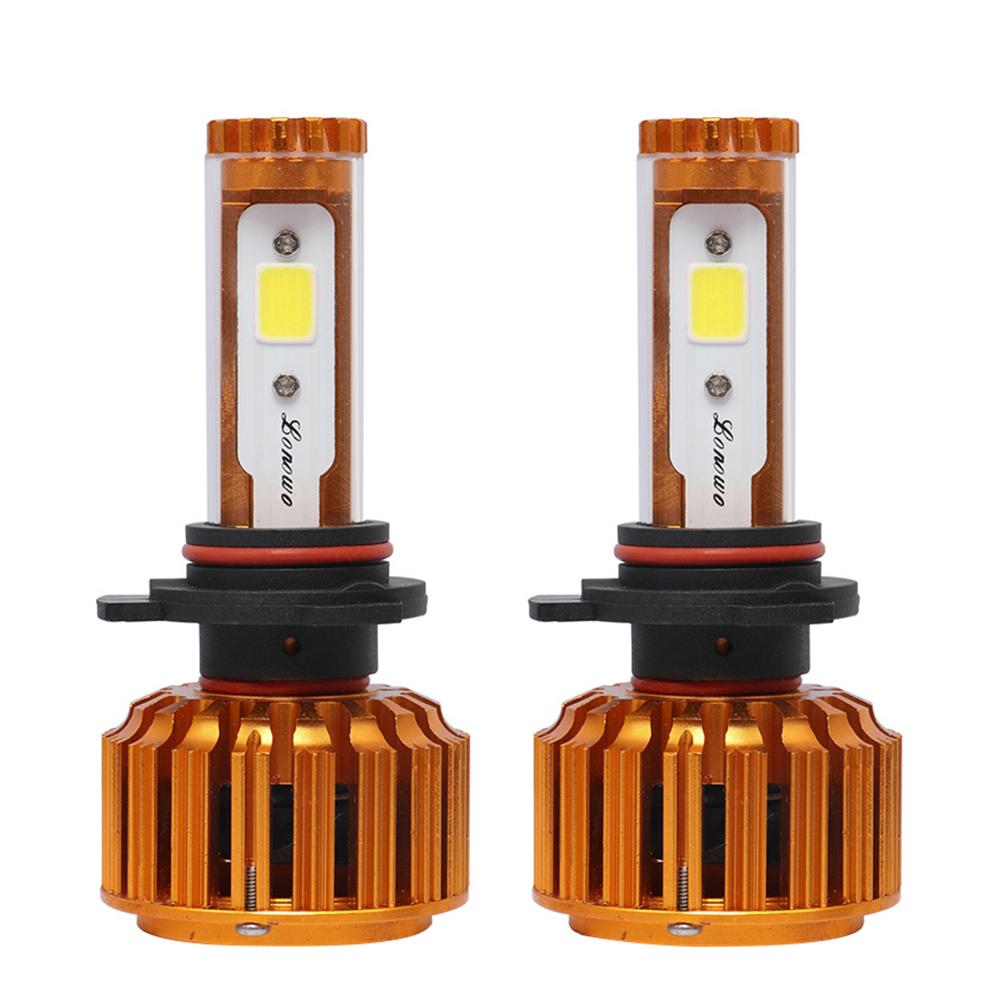 2pcs 9012 H1 H7 H11 LED Car Headlight Bulbs COB LED Auto Headlamp Bulbs