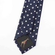 Button Dot Silk Tie、Real Silk Life