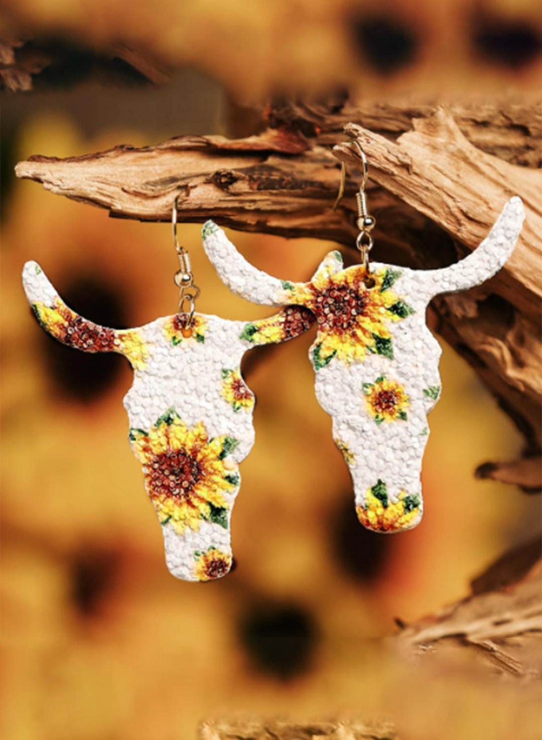 White Women's Earrings Floral Animal Earrings LC011978-1