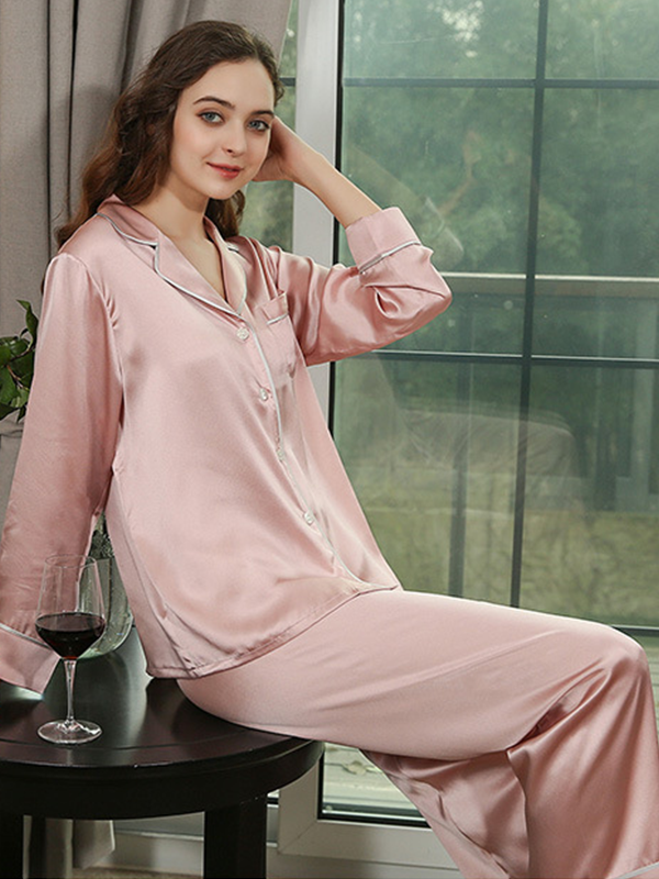 22 Momme High Quality Vintage COCO Collection Silk Pajamas Set、Real Silk Life