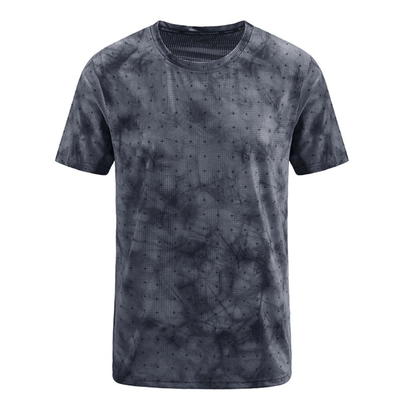 Men's ice silk quick-drying sports T-shirt / [viawink] /