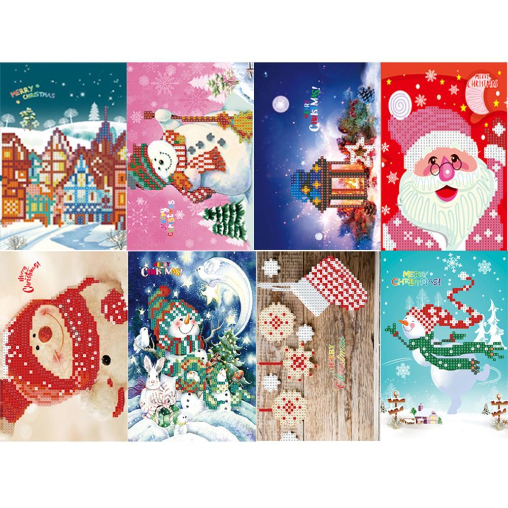 Peggybuy coupon: 8pc Birthday Xmas-Creative Diamond Greeting Card