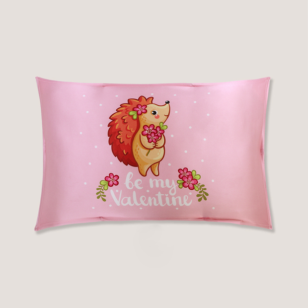 Miss Hedgehog Single Side Mulberry Silk Pillowcase For Kids Envelope Closure、Luxury Silk Life