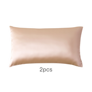 Monogrammed 19 Momme Apricot Single Side Mulberry Silk Pillowcase | Pillowcases 2pcs、Real Silk Life