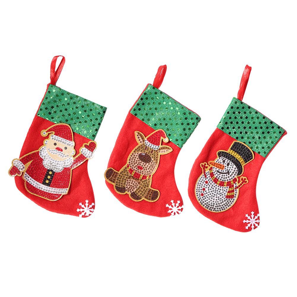 3pcs Christmas Stockings - 5D DIY Craft Pendant, 501 Original