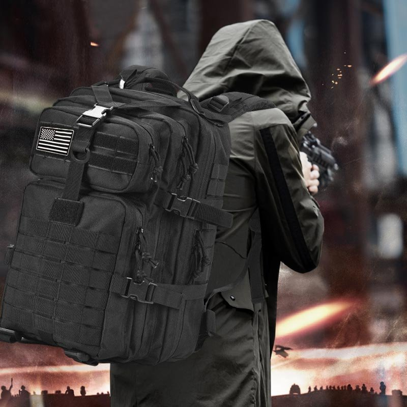 50L Large Capacity Man Army Tactical Backpacks Military Assault Bags Outdoor 3P EDC Molle Pack For Trekking Camping Hunting Bag EZARNO.COM