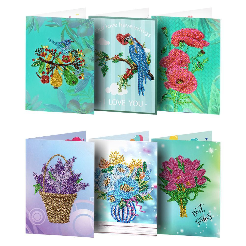 Peggybuy coupon: 6pcs Birthday-Creative Diamond Greeting Card