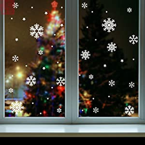 Christmas Snowflake Window Clings