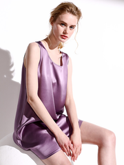 Luxurious Pure Color Silk Nightgown、Real Silk Life