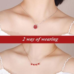 (Buy 1 Get 1 FREE Today!) Women's Favorite S925 Silver Full Diamond Clover Necklace
