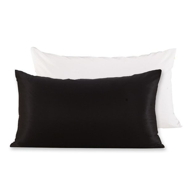 Monogrammed Terse Silk Pillowcase with Polyester Underside | Zipper | 19mm、Real Silk Life