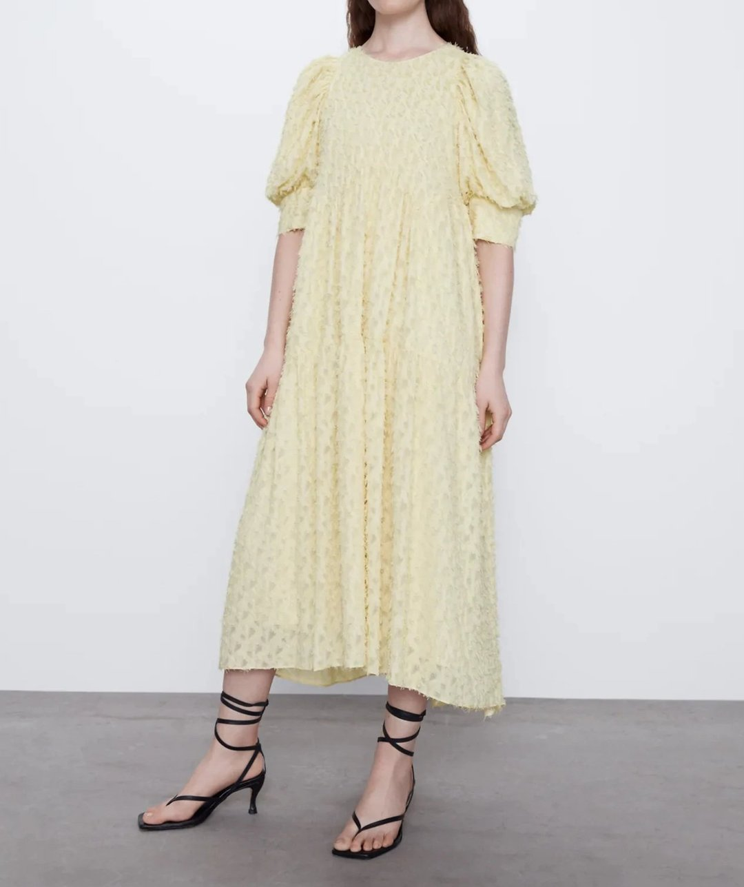 Loose-Fitting Textured Dress - toplula