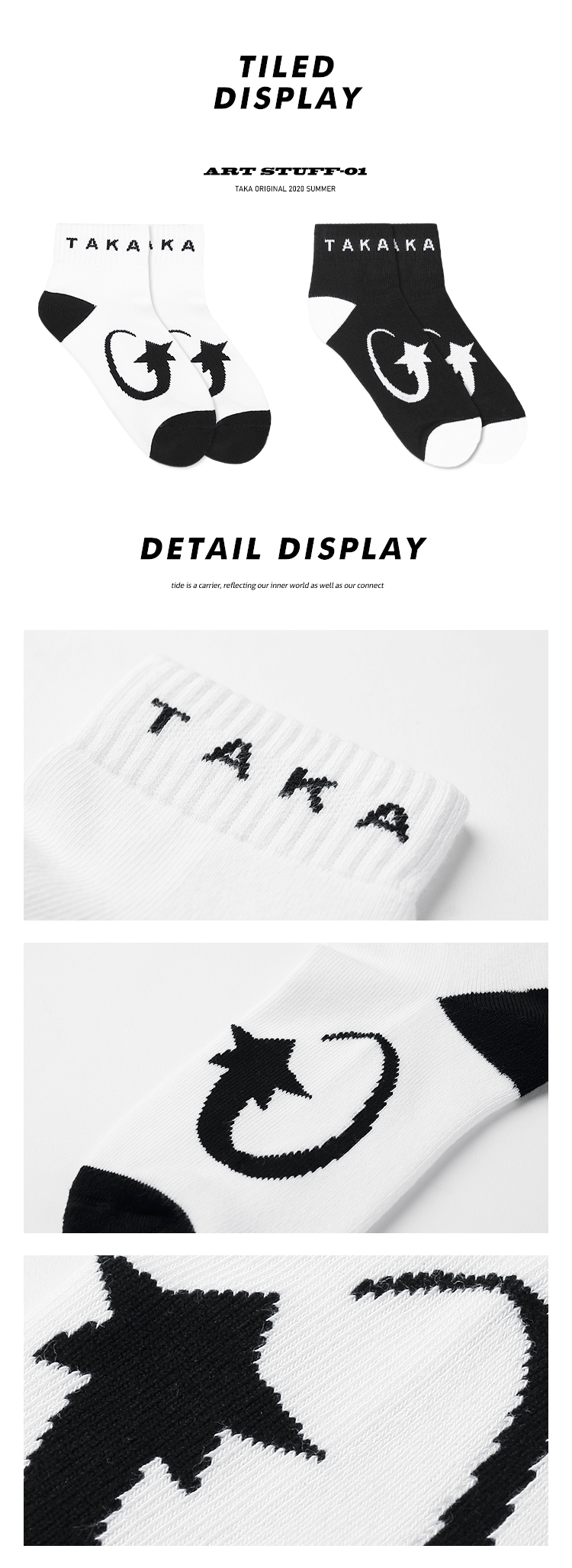 taka original 20ss lucky star ankle cotton blend unisex knit socks