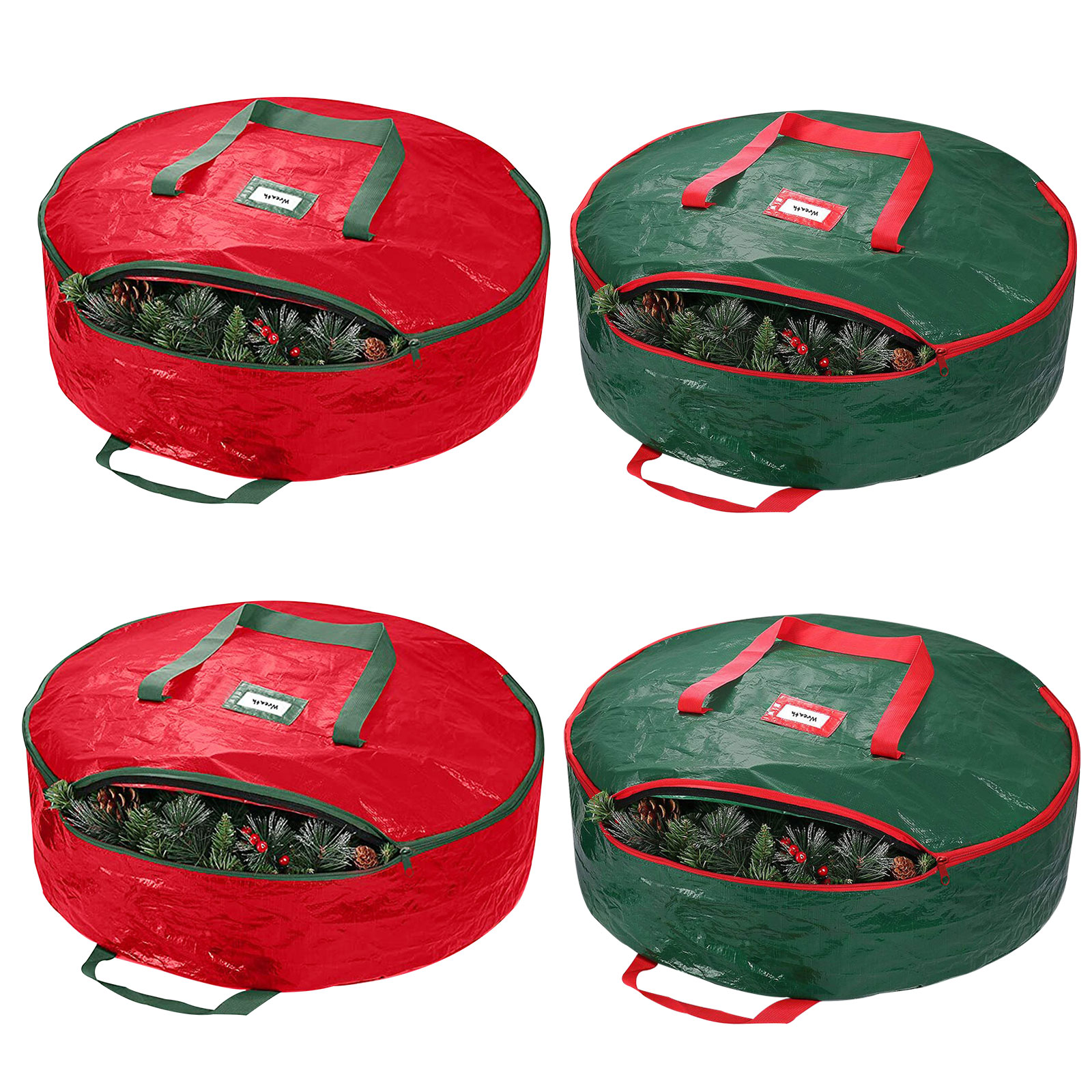 Christmas Wreath Storage Bag Durable Xmas Tear-Resistant Storage Container, 501 Original, Cesdeals, Red  - buy with discount