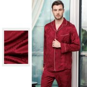 22 Momme High Quality Printed Silk Pajamas Set For Men | Multi-Colors Selected、Real Silk Life