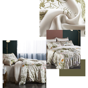 19 Momme Magical Forest Printed Silk Duvet Cover Set | 4pcs、Real Silk Life