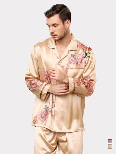 30 Momme Luxury Royal Real Silk Pajamas Set For Men、Real Silk Life