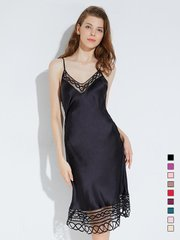 19 Momme Lace Mesh Silk Nightgown | Multi-Colors Selected、Real Silk Life