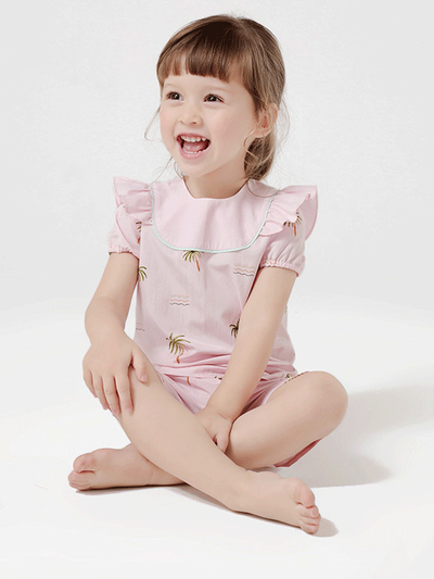 55% Mulberry Silk Short Silk Pajamas For Girls、REAL SILK LIFE
