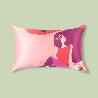 Easter Girl Single Side Silk Pillowcase、Real Silk Life