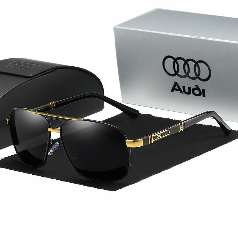 Neu Audi Sonnenbrillen Sunglasses Luxury Metal Men Polarized With Box