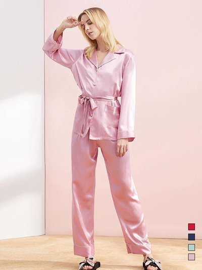 22 Momme High Quality Sweet Long Silk Pajamas Set、Real Silk Life