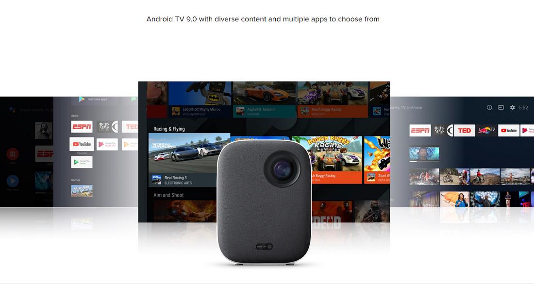 Xiaomi Mijia Smart-Projektor Mini-Beamer Kompakt 1080P 4K Full HD 500 ANSI Lumen EU-Version