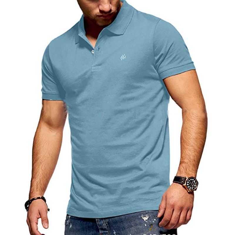 Men's Casual Pure Colour Polo Shirt / [viawink] /
