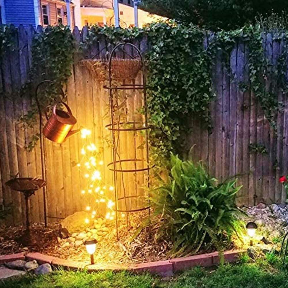 Gießkanne Lichterketten LED Magical Garden DIY Decor neu