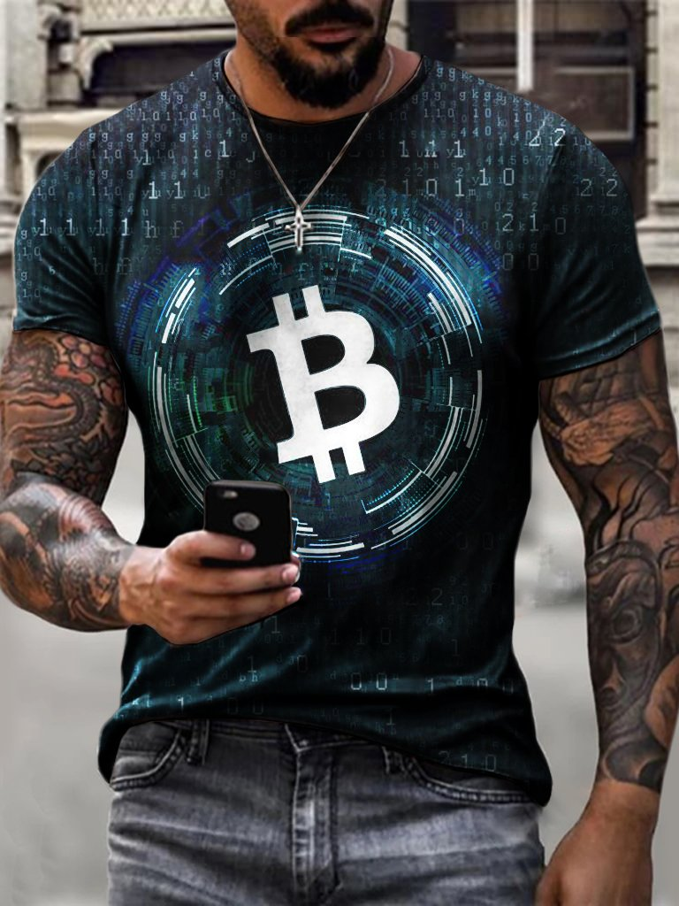 shion Technology Bitcoin Print T-shirt / [viawink] /
