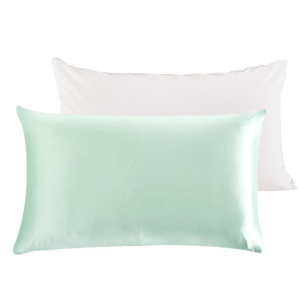 Terse Silk Pillowcase with Polyester Underside | Zipper | 22mm、Real Silk Life
