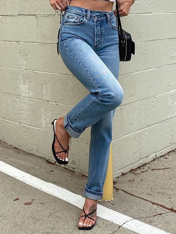 lilifairy sexy solid color jeans