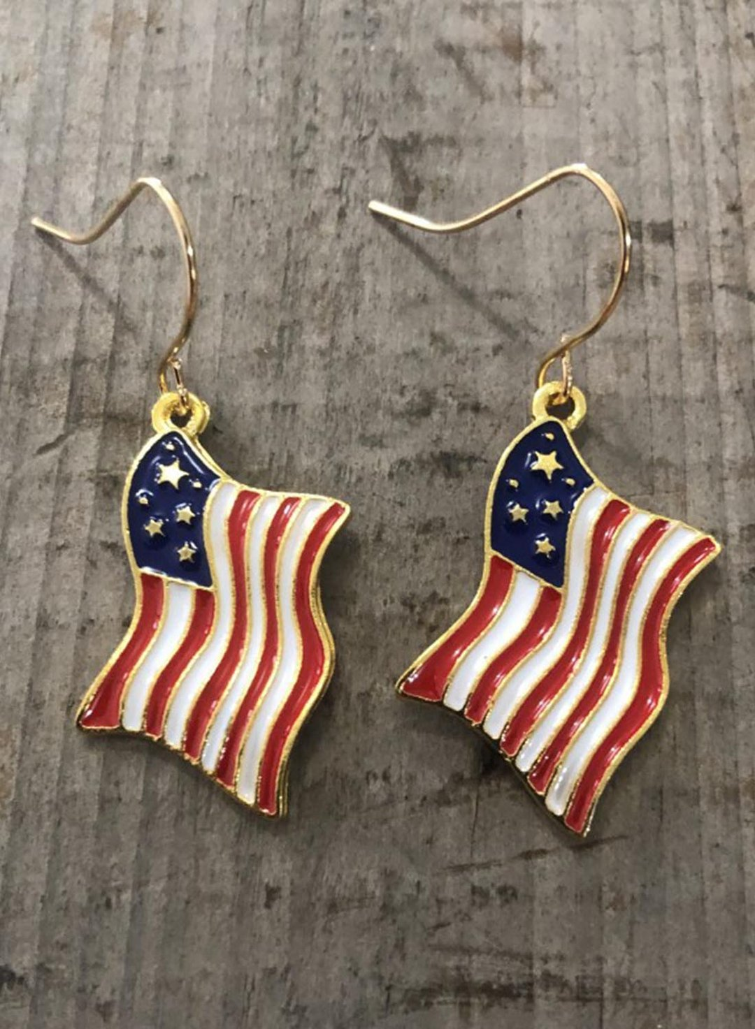 Blue Women's Earrings Independence Day Flag Alloy Earrings LC012438-5