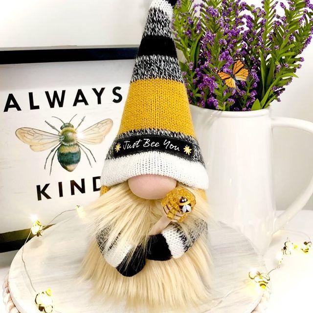 OADAA Bumble Bee GNOME Peluche Decorazioni Primaverili scandinave svedesi della Giornata Mondiale dellape Honey Bee Elf Home Farmhouse Kitchen Decor