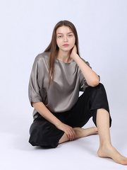 22 Momme Loose Cozy Women's Silk Pajamas Set、Real Silk Life