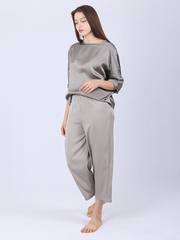 22 Momme Women's Silk Pajamas With Dolman Sleeves、Real Silk Life