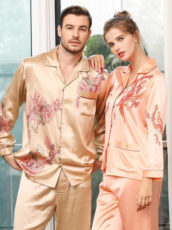 30 Momme Luxury Silk Pajamas Set For Couple、Real Silk Life