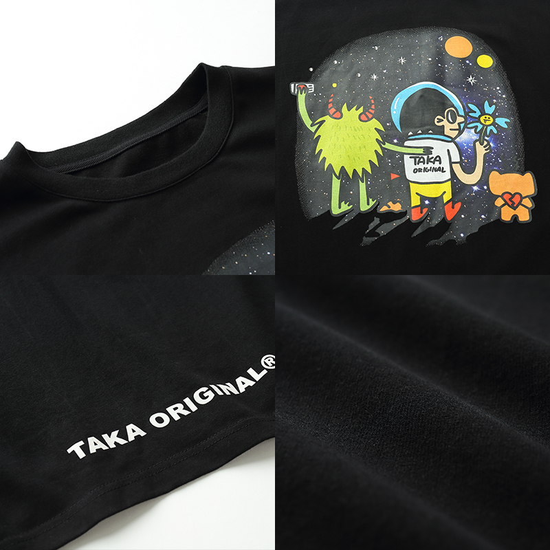 Buy New cotton short sleeves crew neck t-shirts for teen boys and girls at Taka Original. Free Shipping on orders over $60/Get $10 OFF by Sign Up!