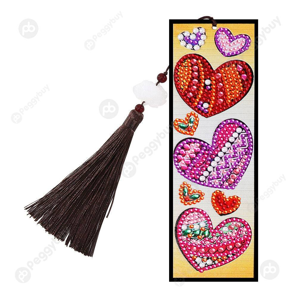 Peggybuy coupon: Love Heart-DIY Creative Diamond Tassel Bookmark