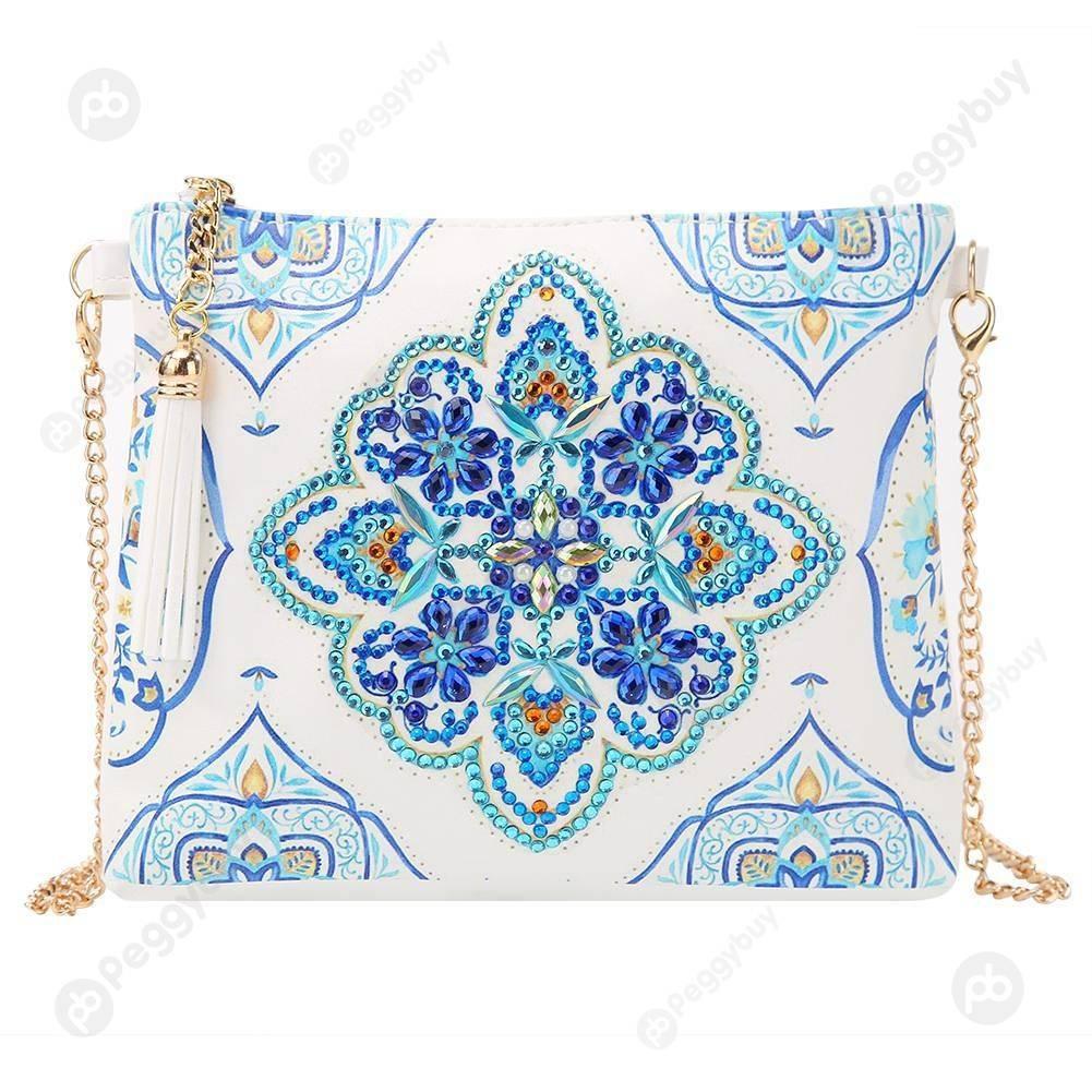 Chain Clutch Gift-DIY Creative Diamond Wristlet Bag, 501 Original