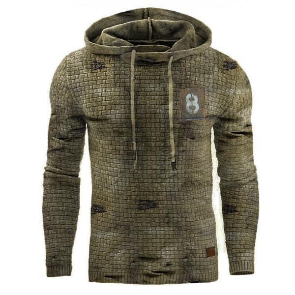 Retro Mens outdoor sports fitness hooded sweater / [viawink] /