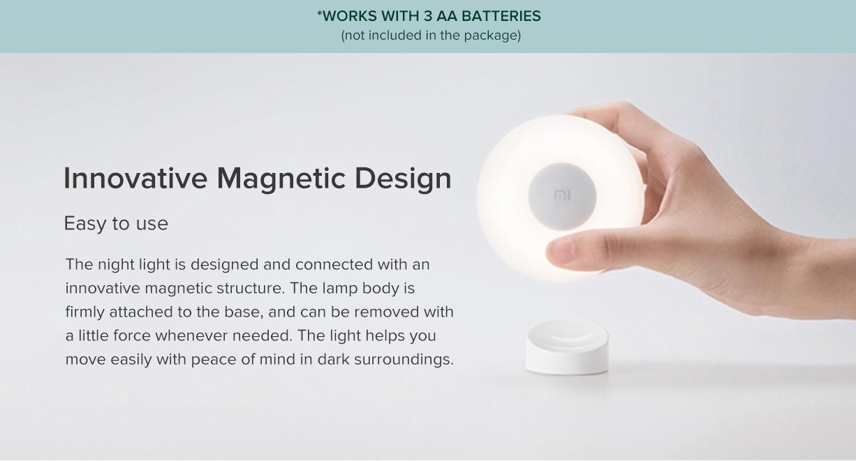 Xiaomi Mijia Led Induction Night Light 2 Global Version-Adjustable Brightness