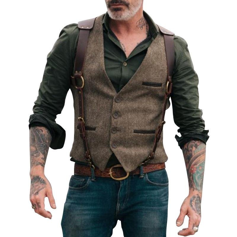 Mens fashion personality outdoor sports vest / [viawink] /
