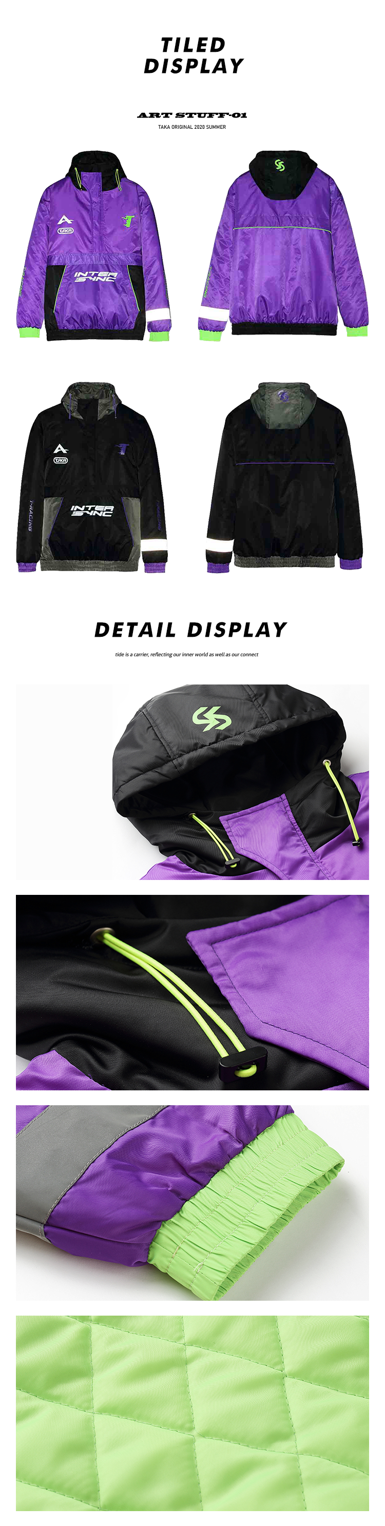 Treat yourself to a new jacket. Let's face it, you probably don't have a hooded jacket. Now is the time, so take your chance. Featuring a drawstring hood, long sleeves, a graphic print and kangaroo pockets.