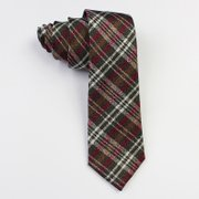 Classic Plaid Green Silk Tie、Real Silk Life